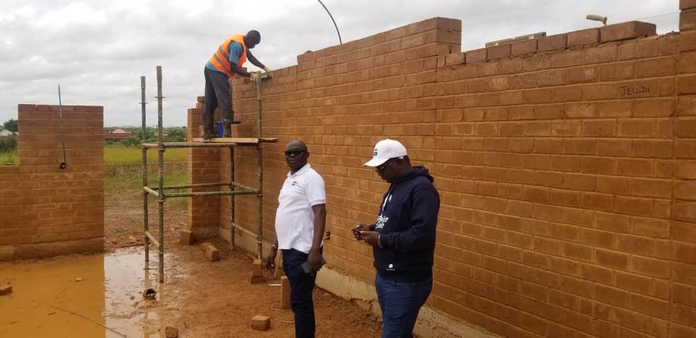 Visite de Monsieur le DG sur le chantier de l'Ecopo